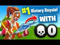 WINNING *SOLO* With NO KILLS In Fortnite Battle Royale (Challenge)