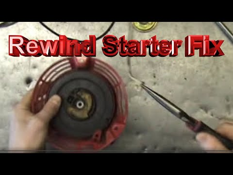 Lawn mower Repair New Rope in Rewind Starter