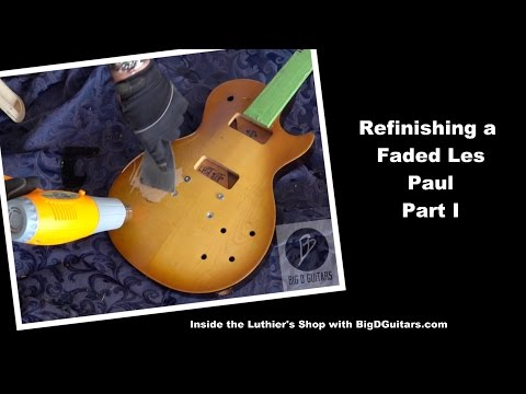 Les Paul Faded Refinish - Part I - Finish removal with Heat Gun - BigDGuitars