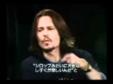 Johnny Depp talking about iggy pop.