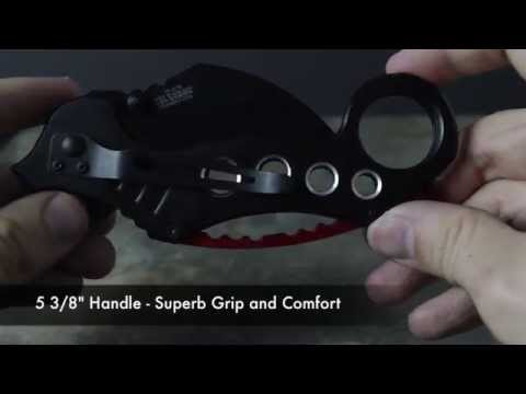 TAC FORCE Black Karambit Speedster Spring Assist Knife Review Unboxing TF-578BK