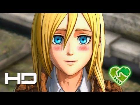 ATTACK ON TITAN 2 (PS4) Christa Romance - Walkthrough Gameplay Cutscene