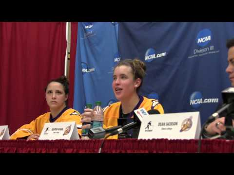 Elmira College Women's Ice Hockey - NCAA Semifinal Post-Game Press Conference