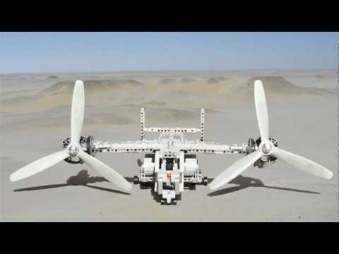 Lego Bell-Boeing V-22 Osprey flying