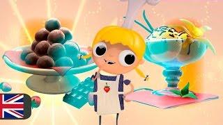 Desserts recipes for kids, Telmo and Tula cartoon