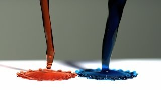 Super Hydrophobic Surface and Magnetic Liquid - The Slow Mo Guys
