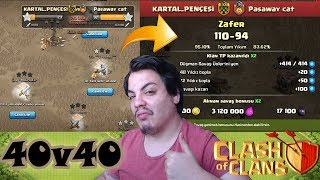 WTF!! 40V40 CLAN WAR STRATEGY Clash of Clans