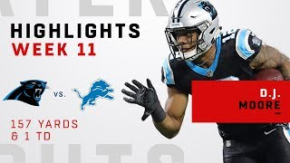 D.J. Moore Highlights vs. Lions