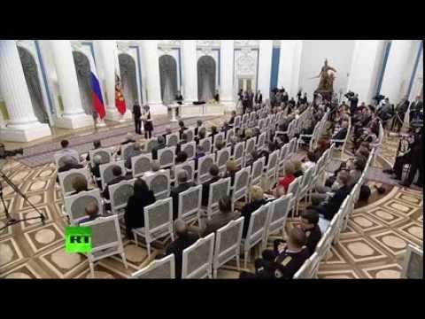 Вручение государственных наград Владимиром Путиным