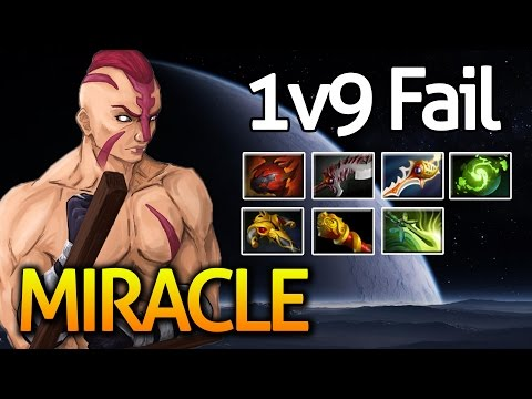 AntiMage [1v9 FAIL] by Miracle- 900LH 1000GPM 26/3/14 Life is HARD Dota2
