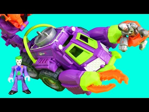 Imaginext Joker & Harley Quinn Battle Vehicle Captures Cyborg From Batcave