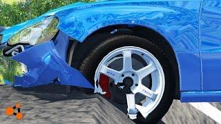 Beamng drive - Pit Road Crashes (pothole crash, accident)