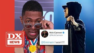 Nick Cannon Declares Himself The Winner In Eminem Rap Battle