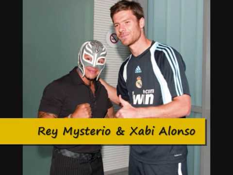 rey mysterio meets real madrid football players aug 2009