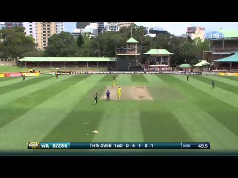 Ashton Agar has earned Man of the Match honours with a quick-fire 64 and a wicket as the Alcohol.Think Again Western Warriors defeated the Tasmanian Tigers b...