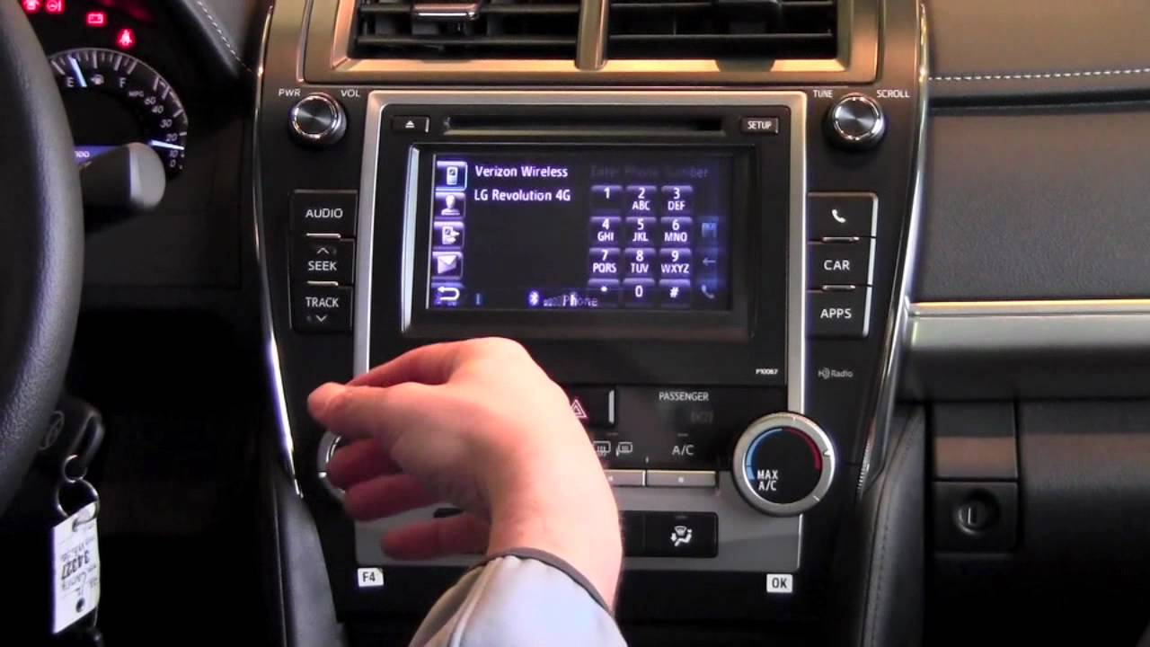2012 Toyota Camry Pair Phone With Bluetooth How To