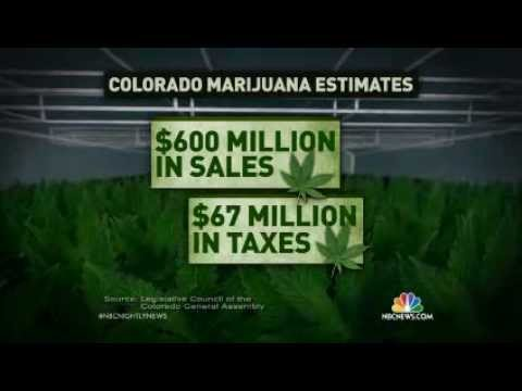 Legal Recreational Marijuana For Sale in Colorado (January 1, 2014 - NBC)