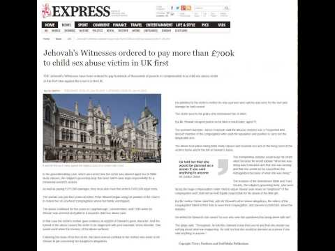 Jehovah's Witness ordered to pay more than £700k to child sex abuse victim in UK first - JW.org News