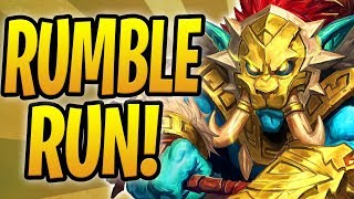*WORLD FIRST* COMPLETE RUMBLE RUN ATTEMPT!   Rastakhan's Rumble Adventure   Hearthstone