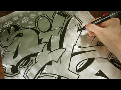 Sive Graffiti Holiday Poster Painting Speed Art