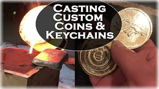 Casting Custom Coins & Keychains in Pure Aluminum BRONZE