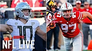 Mel Kiper's 2019 Big Board includes Justin Herbert, Nick Bosa, 20 defensive players | NFL Live