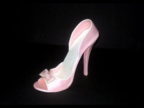 Fondant High Heel Shoe Tutorial Youtube