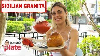 SICILIAN GRANITA AND BRIOCHE RECIPE | Granita Siciliana al Limone (Italian Lemon Ice Recipes)