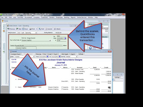 Overview: Entering Transactions Into QuickBooks