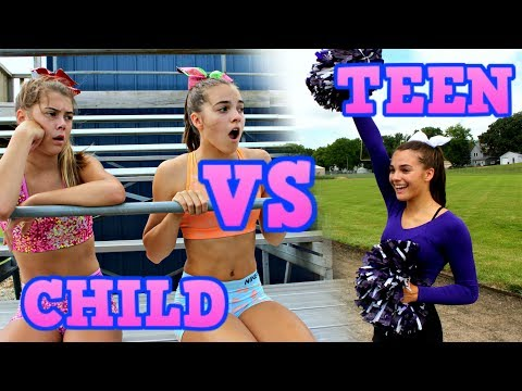 Child You VS Teen You: CHEERLEADING! thumbnail