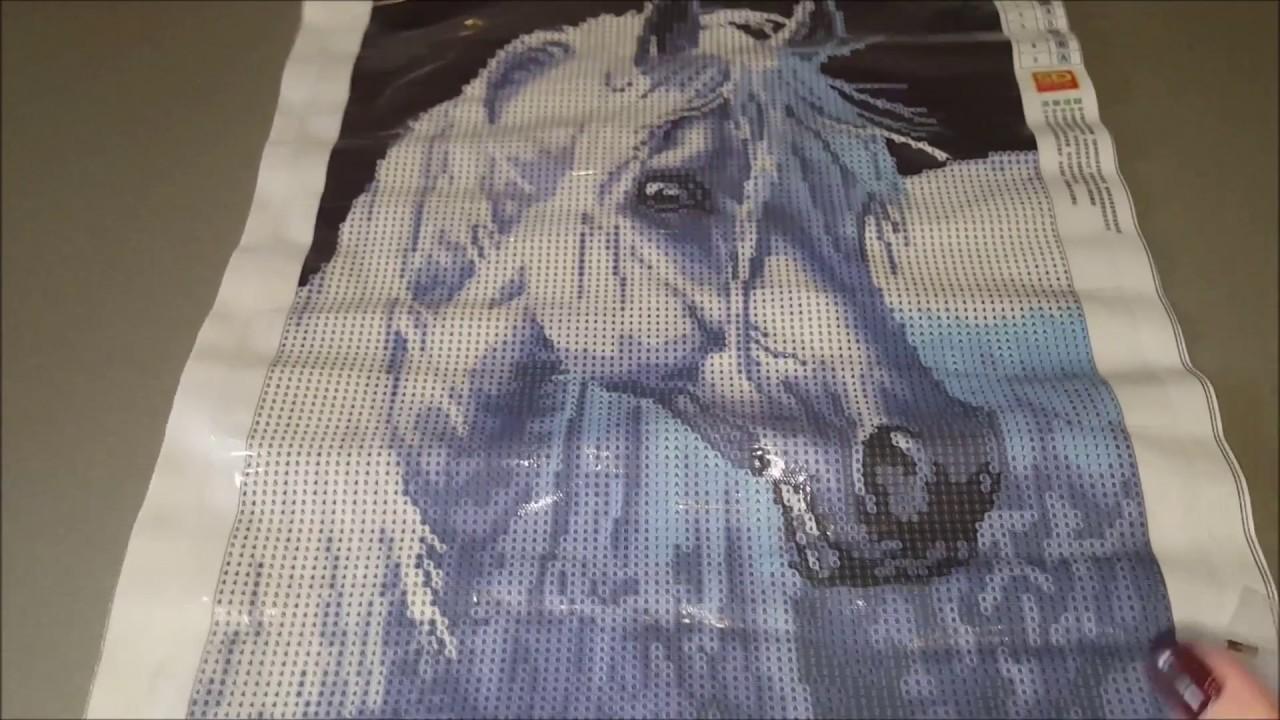 Алмазная вышивка лошадь готовая работа 34