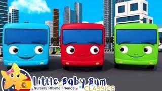 Canciones Infantiles | Diez Autobuses Arcoiris | Dibujos Animados | Little Baby Bum en Español
