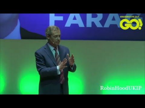 Grassroots Out Stoke Nigel Farage speech