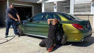 Fixing My WORST MISTAKE... Colorshifting The Right Way | Mercedes AMG C63S Directional Film