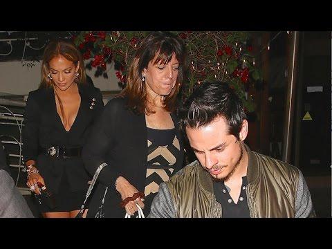 Jennifer Lopez Treats Casper Smart To Birthday Dinner At Madeo
