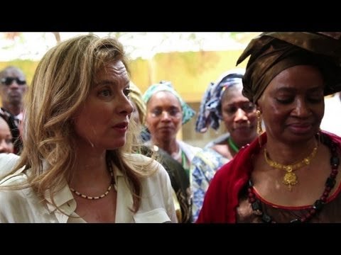 France's first lady visits Mali's war-torn north