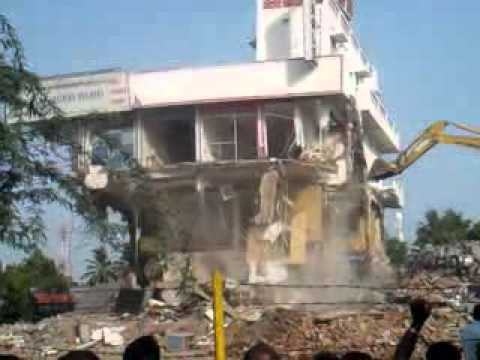 Demolishing EAGLE book centre-Tuticorin
