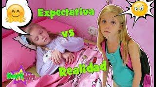 EXPECTATIVA VS REALIDAD Rutina de Mañana antes de ir a la Escuela