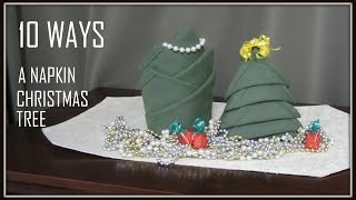 NAPKIN FOLDING: 10 WAYS CHRISTMAS TREE