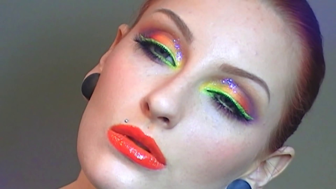 Rainbow makeup tutorial / EASY BRIGHT SUMMER MAKEUP LOOK ...
