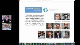 A Briefing and Discussion on Solar Geoengineering: Science, Ethics, and Governance