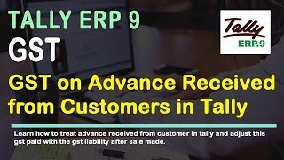 GST on Advance Payment Received from Customer Implement in Tally   veertutorial.com