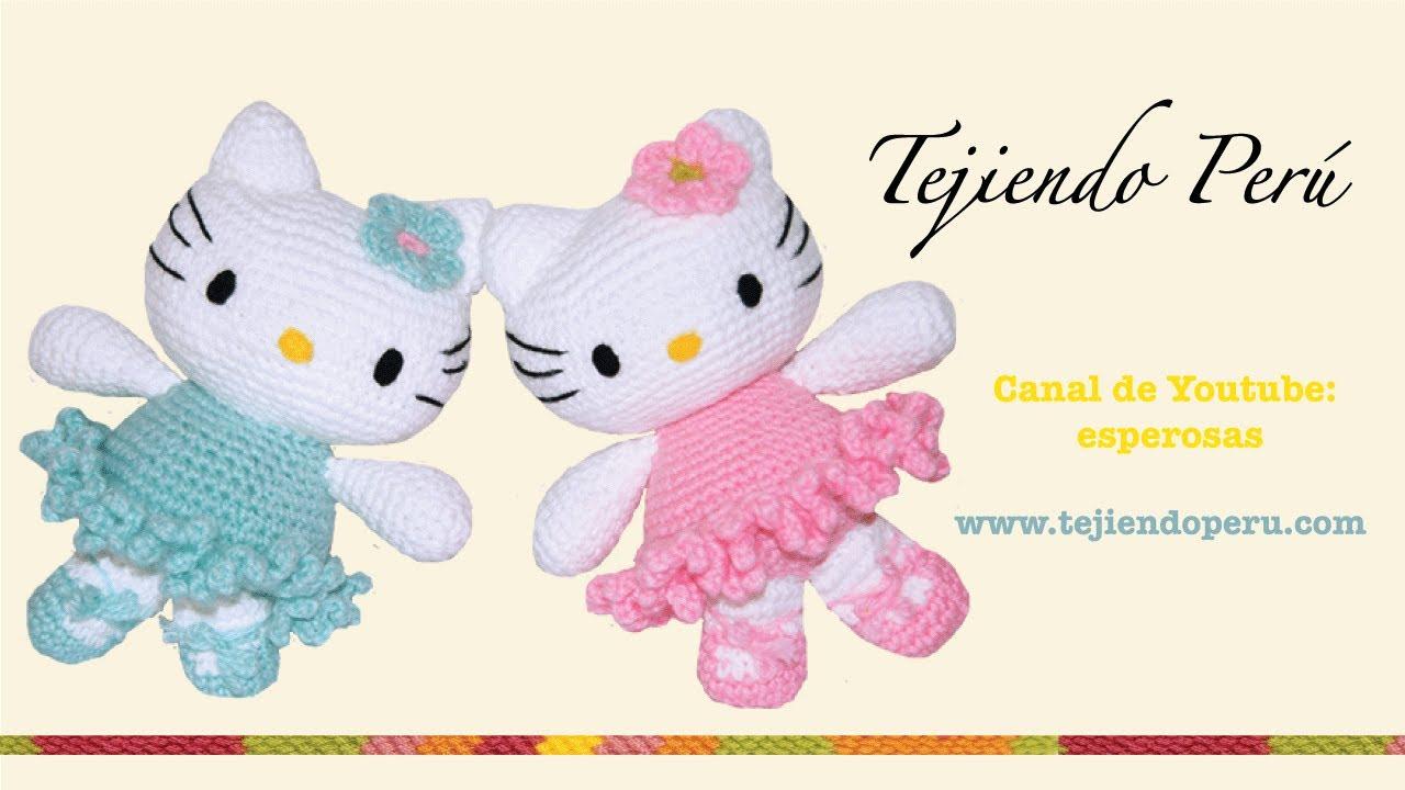 Amigurumi De Hello Kitty : Hello Kitty tejida a crochet (amigurumi) Parte 4: piernas ...