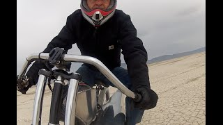 Maddoxjets; jet engine bike run in desert 50MPH