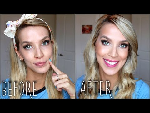 NEW Drugstore Foundation Tutorial! (+ Contouring. Bronzer. Blush!)