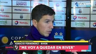 """Ignacio Fernández: """"Me voy a quedar en River"""""""