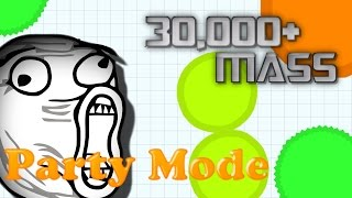 30,000 MASS DOMINATING AGAR.IO (Teaming In ag Clan)
