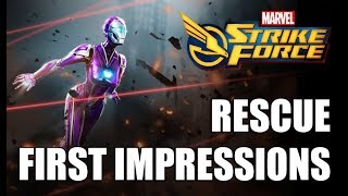 Rescue Rank up, First Impressions & Gameplay - Marvel Strike Force