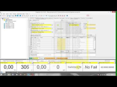 Переключение параметров двигателей при работе от одного преобразователя частоты Lenze 8400 Vector