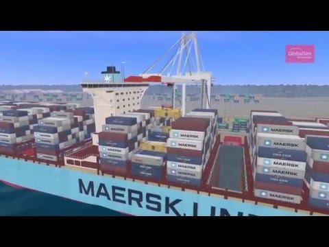 STS Ship to Shore Crane Simulator by GlobalSim